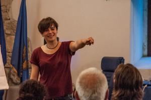 Scrittori e scritture in Castello. Incontri di drammaturgia contemporanea presso il Castello di San Pietro di Ragogna, Udine. Sarah Chiarcos.