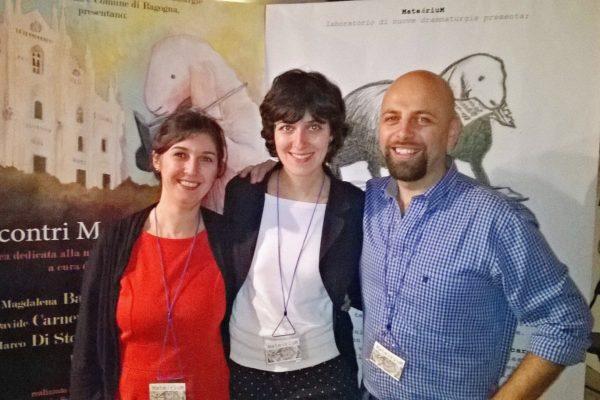 Anna Gubiani, Giulia Tollis, Alessandro Di Pauli, direzione artistica di Scrittori e Scritture in Castello