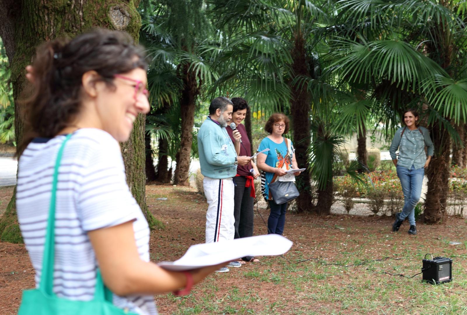 Laboratorio di scrittura Passeggiata Storico Botanica Parco Sant'Osvaldo Udine